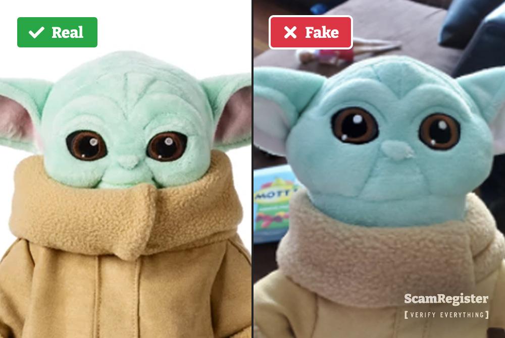 Fake vs real baby Yoda