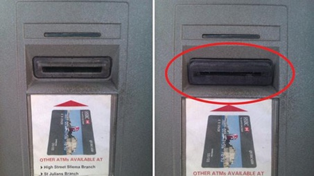 Example of credit card skimmer.