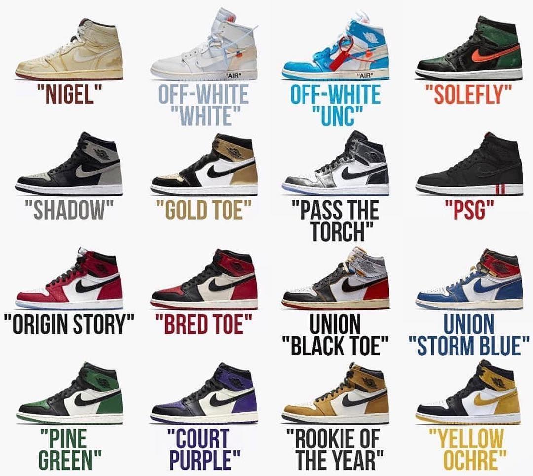 Nike Air Jordan colorways