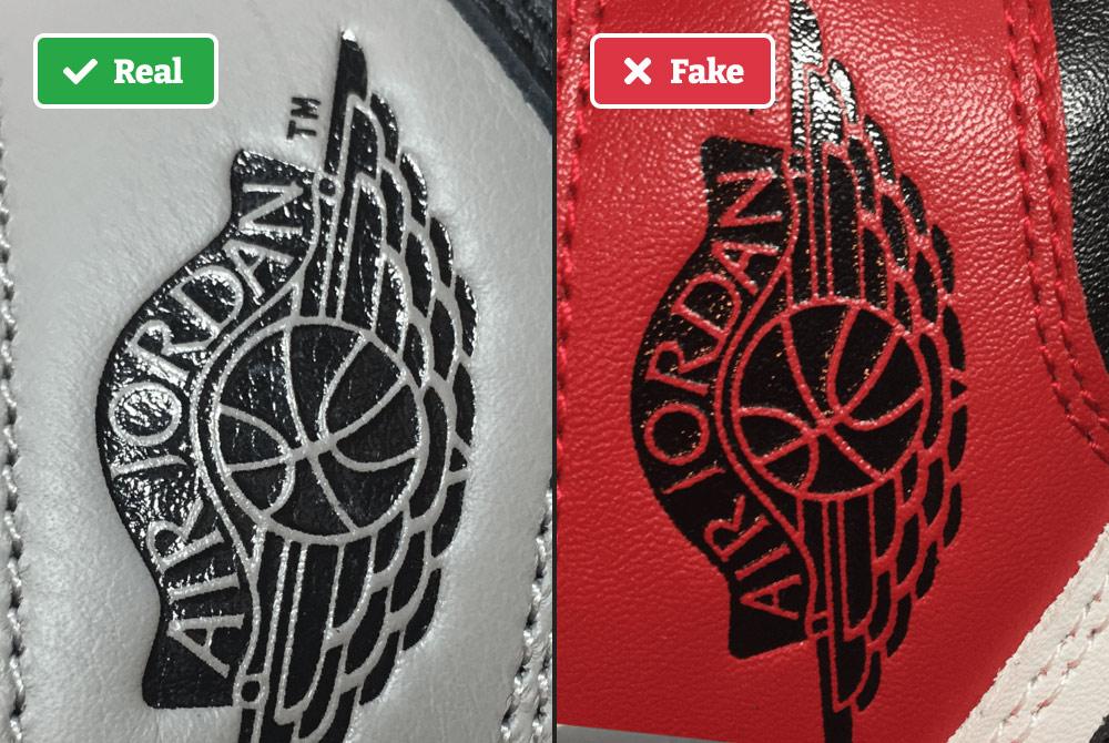Real vs fake Air Jordans size tag