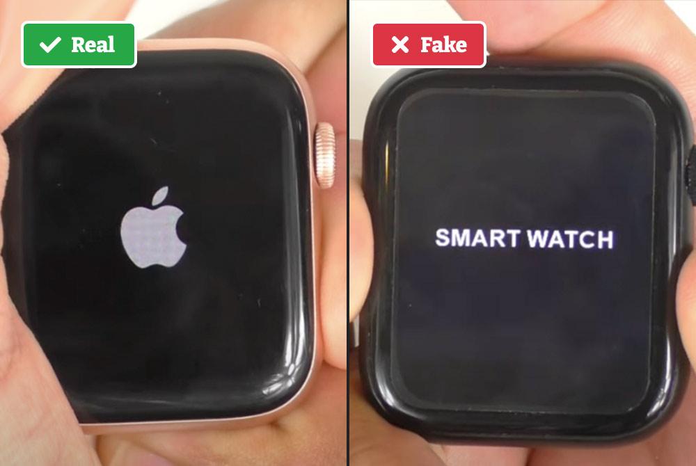 Real vs fake Apple Watch screen
