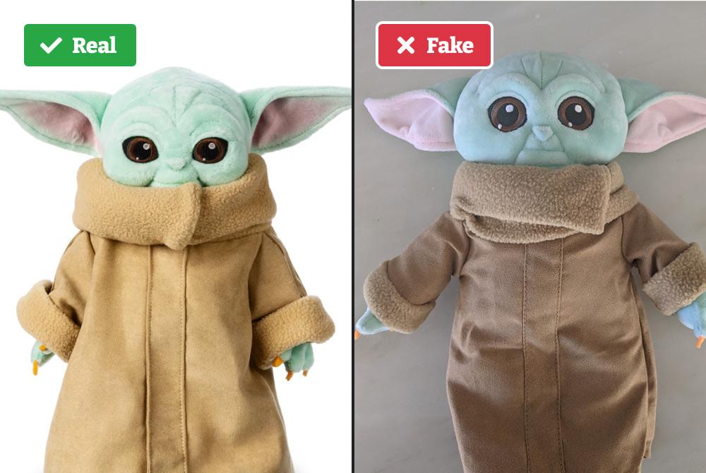 Baby Yoda vs Fake