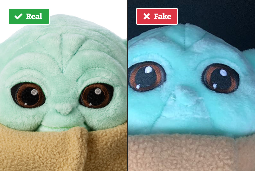 Baby Yoda face comparison against face
