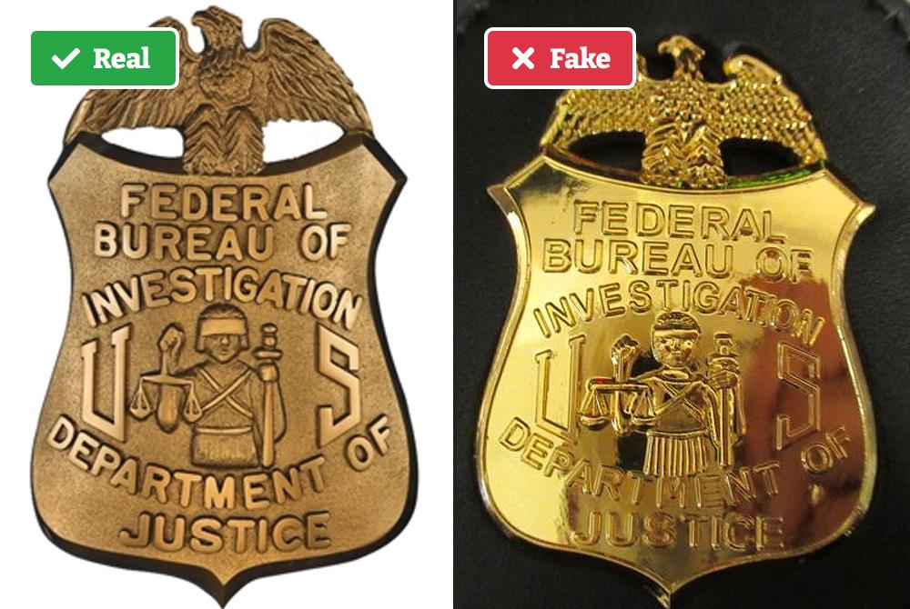 Fake FBI badges