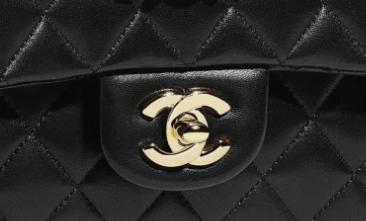 Authentic Chanel bag logo