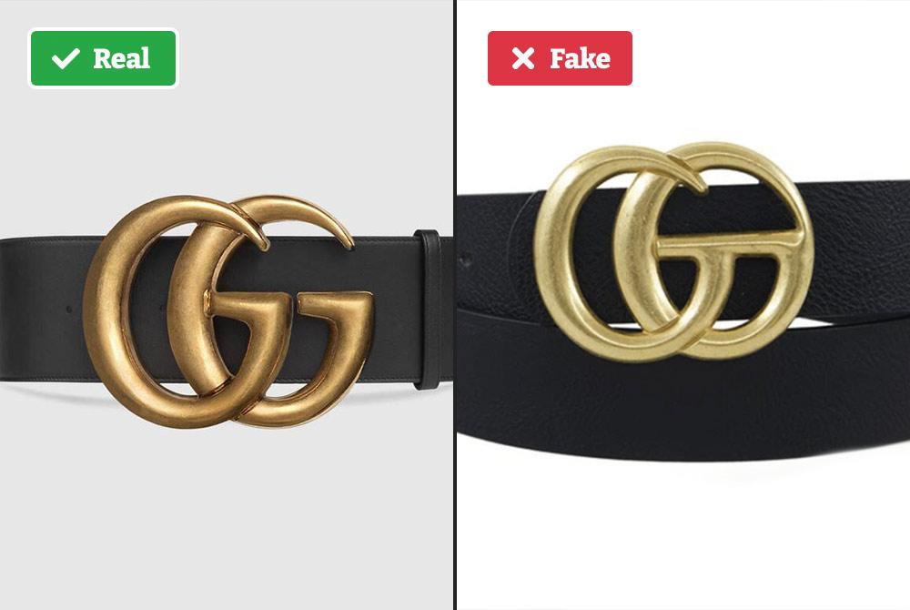 Real vs fake Gucci belt buckle