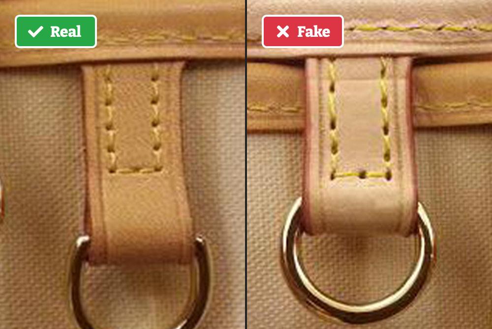 Real vs fake LV D-ring