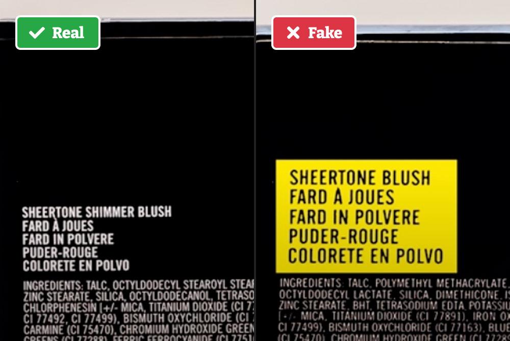 Real vs fake MAC Makeup box