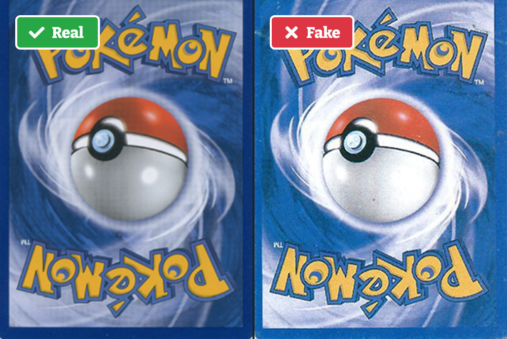 Real vs fake Pokémon cards