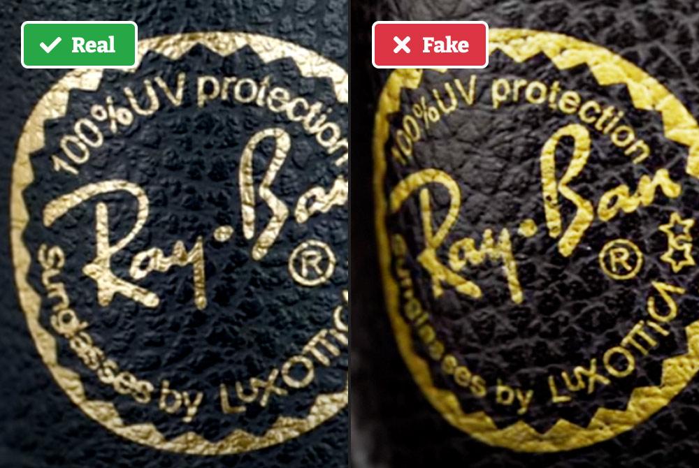 Real vs fake Ray-Bans case
