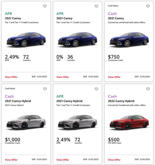 Example of Memorial Day car sales.