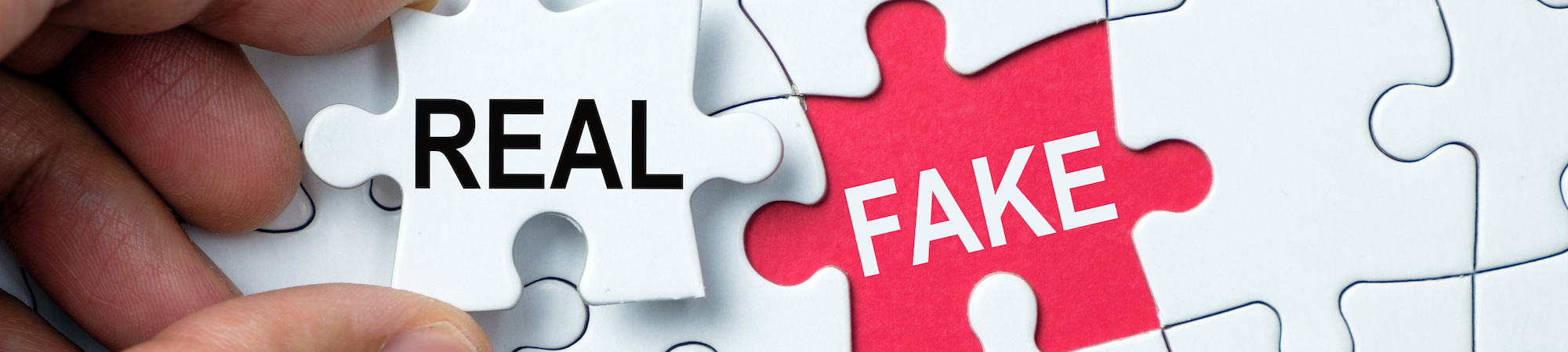 Real vs fake puzzle pieces