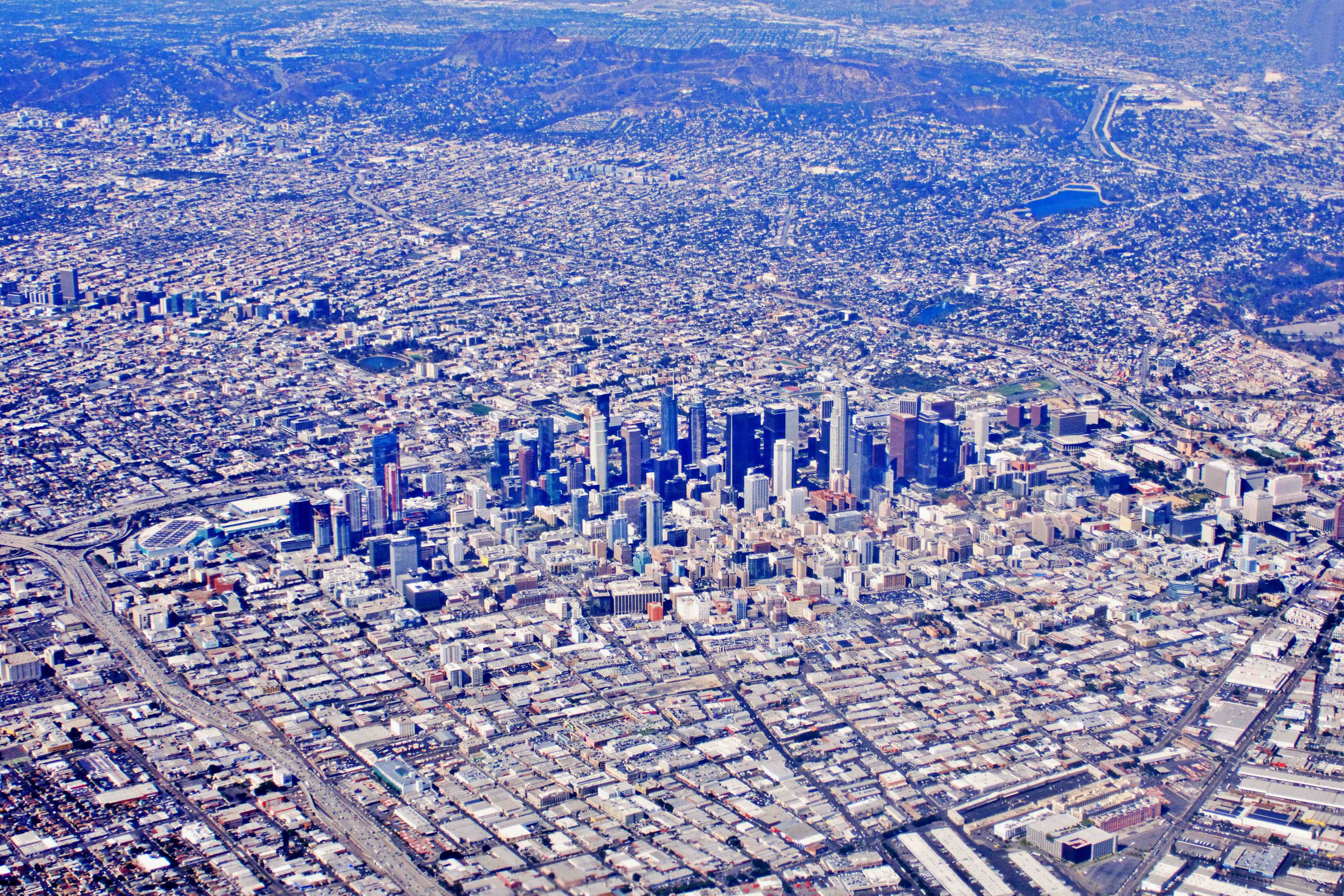 Birdseye view of Los Angeles