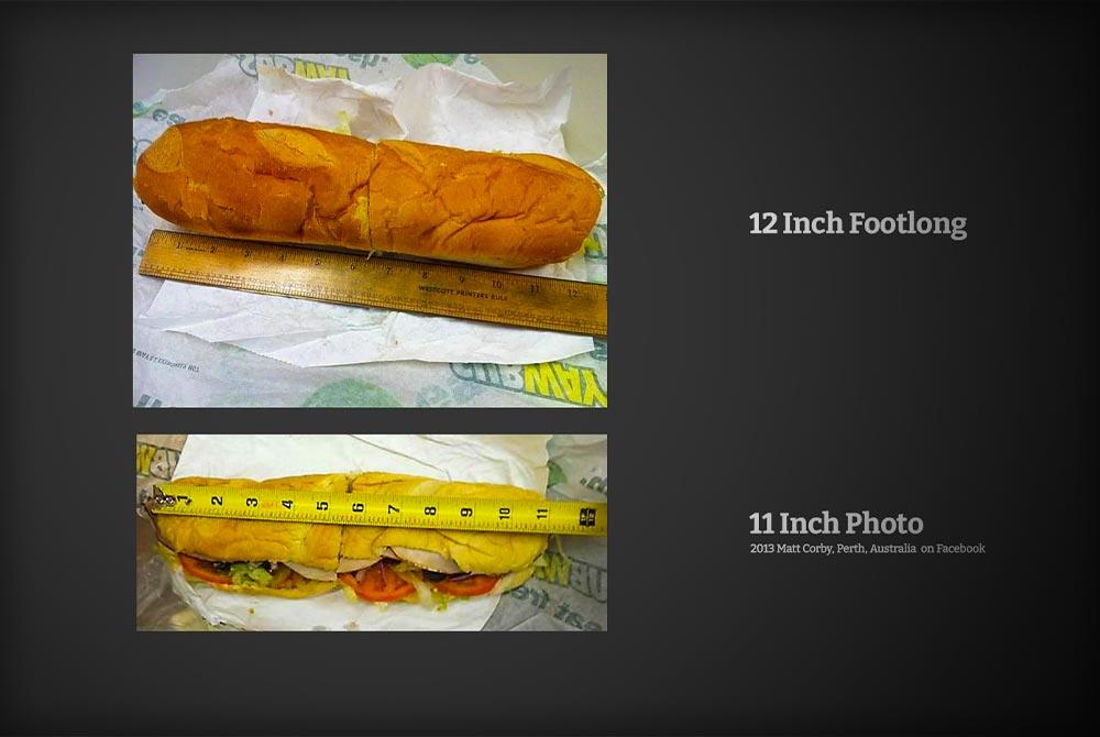 Is the Subway Footlong Sandwich (12 Inch Sandwich) a Scam?