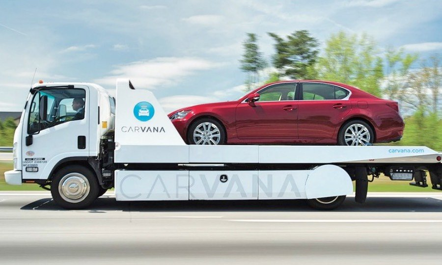 Carvana car delivery