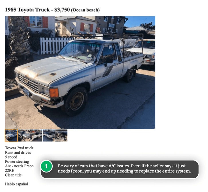 Example of used car scam