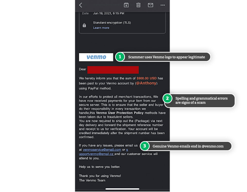 Venmo email scam