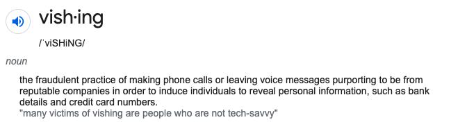 Vishing definition